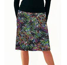 Sukne - SUKNĚ barevné puntíky - 7819061_