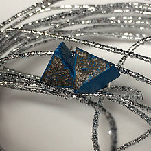 Náušnice - Betónky Triangel blue Art 01 - 7820071_