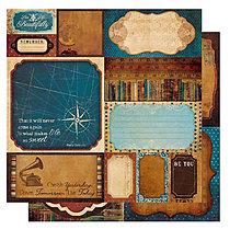 Papier - BoBunny - Weekend Market Výrezy (štítky so starožitným vzhľadom, 12x12) - 7816360_
