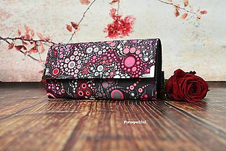 Peňaženky - Růžovo-červené bublinky - 7819078_