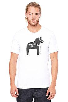 Oblečenie - Pánske tričko KONÍK - 7817425_