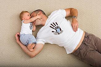 Oblečenie - Pánske tričko a detské body/tričko ĽÚBIM - 7818326_