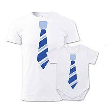 Oblečenie - Pánske tričko a detské body/tričko KRAVAŤÁCI - 7818334_