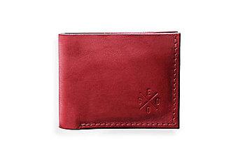 Peňaženky - Eggo peňaženka Rivers Coins červená - 7818477_