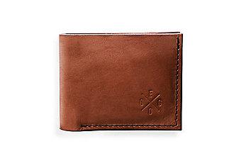 Peňaženky - Eggo peňaženka Rivers Coins svetlo hnedá - 7818524_