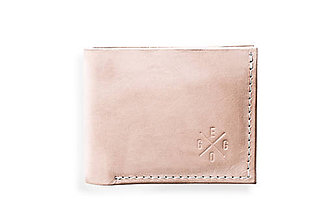 Peňaženky - Eggo peňaženka Rivers Coins prírodná (nefarbená) - 7818547_
