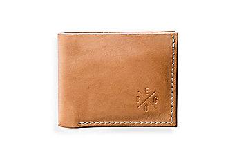 Peňaženky - Eggo peňaženka Rivers Coins béžová - 7818558_