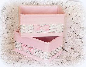 Košíky - Košík odkladáčik do rúžova 2 - 7817067_