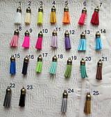Polotovary - Kožené strapce, rôzne farby, starobronz a brúsená koža,38x10 mm / kus - 7819902_