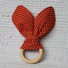 Hračky - Hryzátko zajačik tehlový - 7817346_