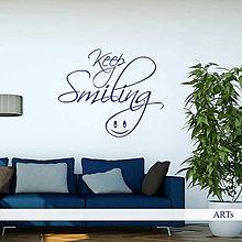 Dekorácie - (3787n) Nálepka na stenu - Keep smiling - 7821547_