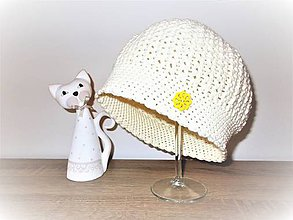 Detské čiapky - Háčkovaná detská čiapka - 7820869_