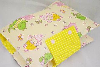 Detské doplnky - Organizér na plienky žlto-ružový s ovečkami - 7820955_