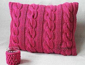 Úžitkový textil - Vankúš fuksiová farba. - 7821379_