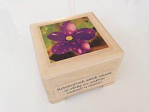 Krabičky - Krabička Fialka šperkovnička - 7823425_