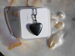 Náhrdelníky - hematitová lovestory - 7823713_