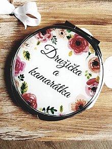 Zrkadielka - Svadobné zrkadielko - Družička a kamarátka - 7820840_