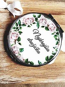 Zrkadielka - Svadobné zrkadielko - Najkrajšia družička - 7820882_