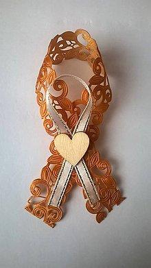 Pierka - Zlaté svadobné pierko srdiečko - 7823209_