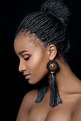 Náušnice - Lion Head Earrings - vyšívané náušnice - 7821794_