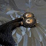 Náušnice - Lion Head Earrings - vyšívané náušnice - 7821823_