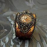 Náramky - Lion Head Bracelet - vyšívaný náramek - 7821863_