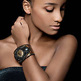Náramky - Lion Head Bracelet - vyšívaný náramek - 7821866_