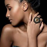 - Lion Head Ring - vyšívaný prsten - 7821873_