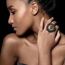 Prstene - Lion Head Ring - vyšívaný prsten - 7821873_