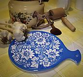 Pomôcky - Podložka pod hrniec modré kvety - 7823821_