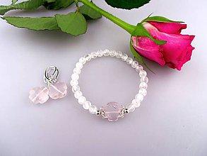 Sady šperkov - náramok, náušnice ruženín krištál a striebro - 7822460_