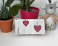 Peňaženky - Srdiečková peňaženka - 7820885_