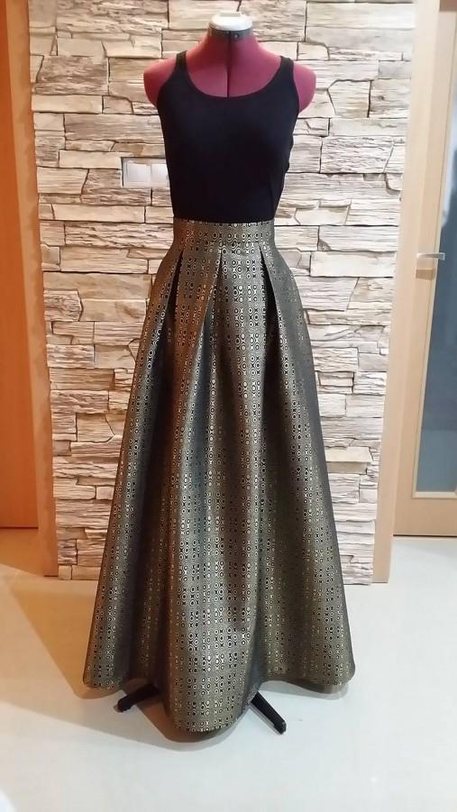 Spoločenská sukňa s vreckami - veľ.44   T-hobby - SAShE.sk ... dd77e0eda80