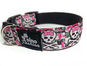 Pre zvieratká - Obojok Pretty Skulls - 7823816_