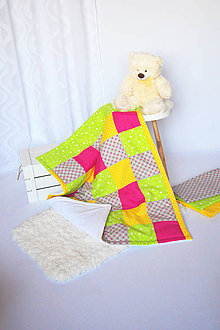 Textil - Veselá detská deka 70x90cm - 7823019_