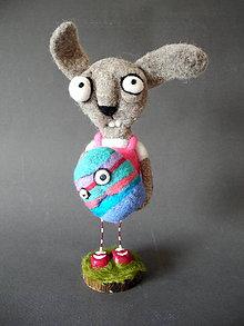 Dekorácie - zajac PETO a jeho vajce - 7823380_
