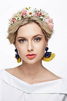 Ozdoby do vlasov - Bohatý, nežný kvetinový venček - 7823542_