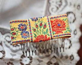 Ozdoby do vlasov - Mašľa do vlasov - folklórny hrebienok - 7822274_