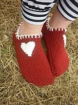 Obuv - vo vlne,červené papuče - 7821570_