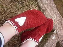 Obuv - vo vlne,červené papuče - 7821571_