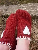 Obuv - vo vlne,červené papuče - 7821572_