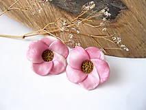 Náušnice - jarné ružové - 7821107_