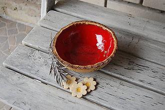 Nádoby - Keramická miska červená - 7821311_