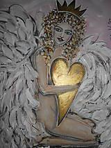 Obrazy - Kráľovské srdce - 7820596_