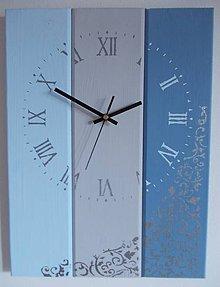 Hodiny - Nástenné hodinky - blue-grey-blue - 7824287_