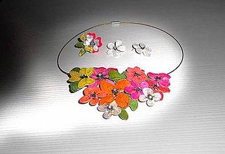 Sady šperkov - súprava veselé kvety - 7824760_