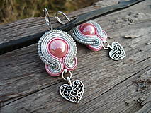 - Soutache náušnice Silver Sweet Love - 7827507_