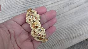 Simple náramok...soutache (Light Gold/Crystal Metallic Sunshine)