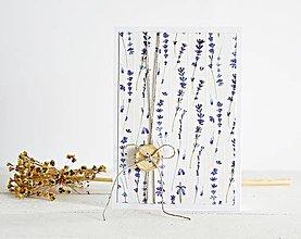 Papiernictvo - Pozdrav štýlový - levanduľa - 7824911_