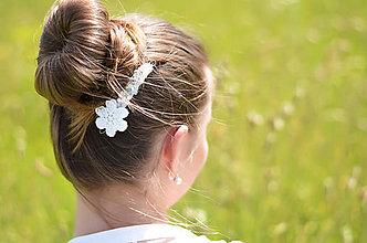Ozdoby do vlasov - Kryštálový kvet - 7824898_